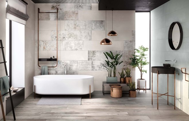 Living space jane catania interior stylist - Piastrelle bagno damascate ...